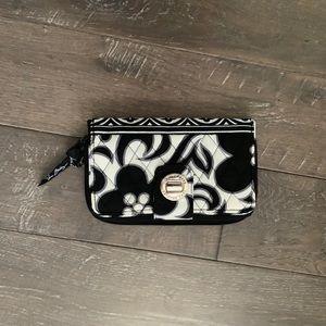 Vera Bradley black and white wallet. New. EUC
